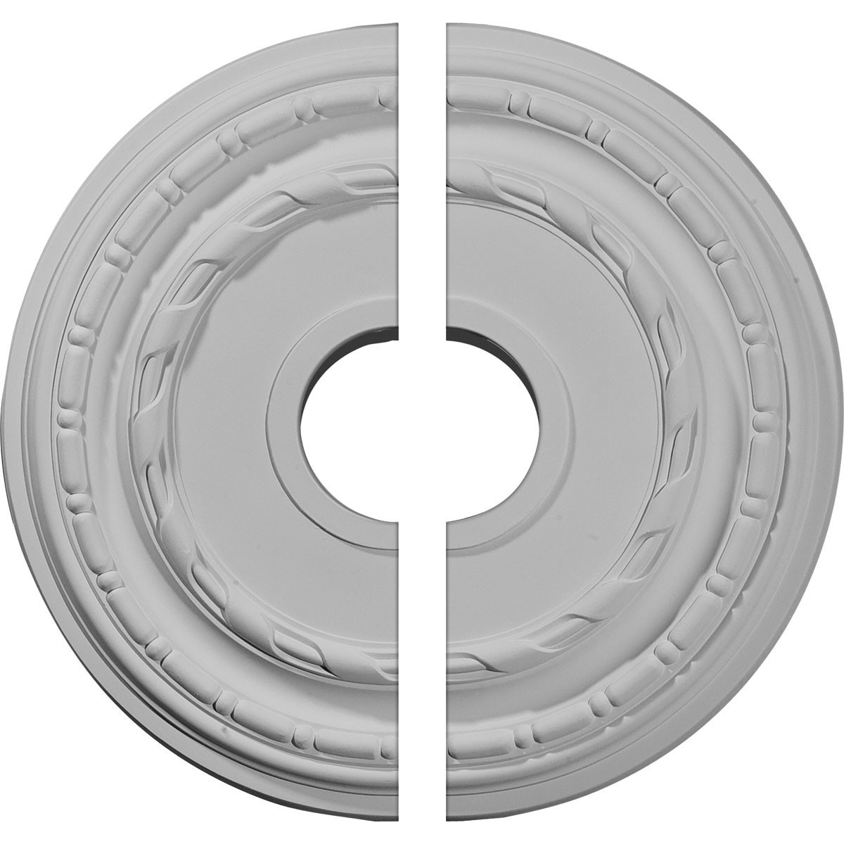"""EM-CM15DU2 - 15 3/8""""OD x 3 5/8""""ID x 1""""P Dublin Ceiling Medallion, Two Piece (Fits Canopies up to 8 1/4"""")"""