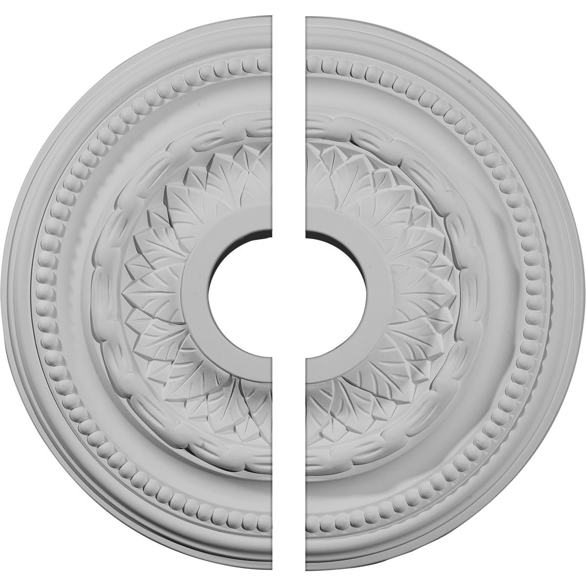 """EM-CM15GA2 - 15 3/4""""OD x 3 1/4""""ID x 1""""P Galway Ceiling Medallion, Two Piece (Fits Canopies up to 3 1/4"""")"""
