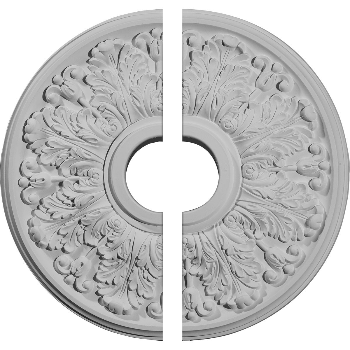 """EM-CM16AP2 - 16 1/2""""OD x 3 5/8""""ID x 1 1/8""""P Apollo Ceiling Medallion, Two Piece (Fits Canopies up to 5 5/8"""")"""