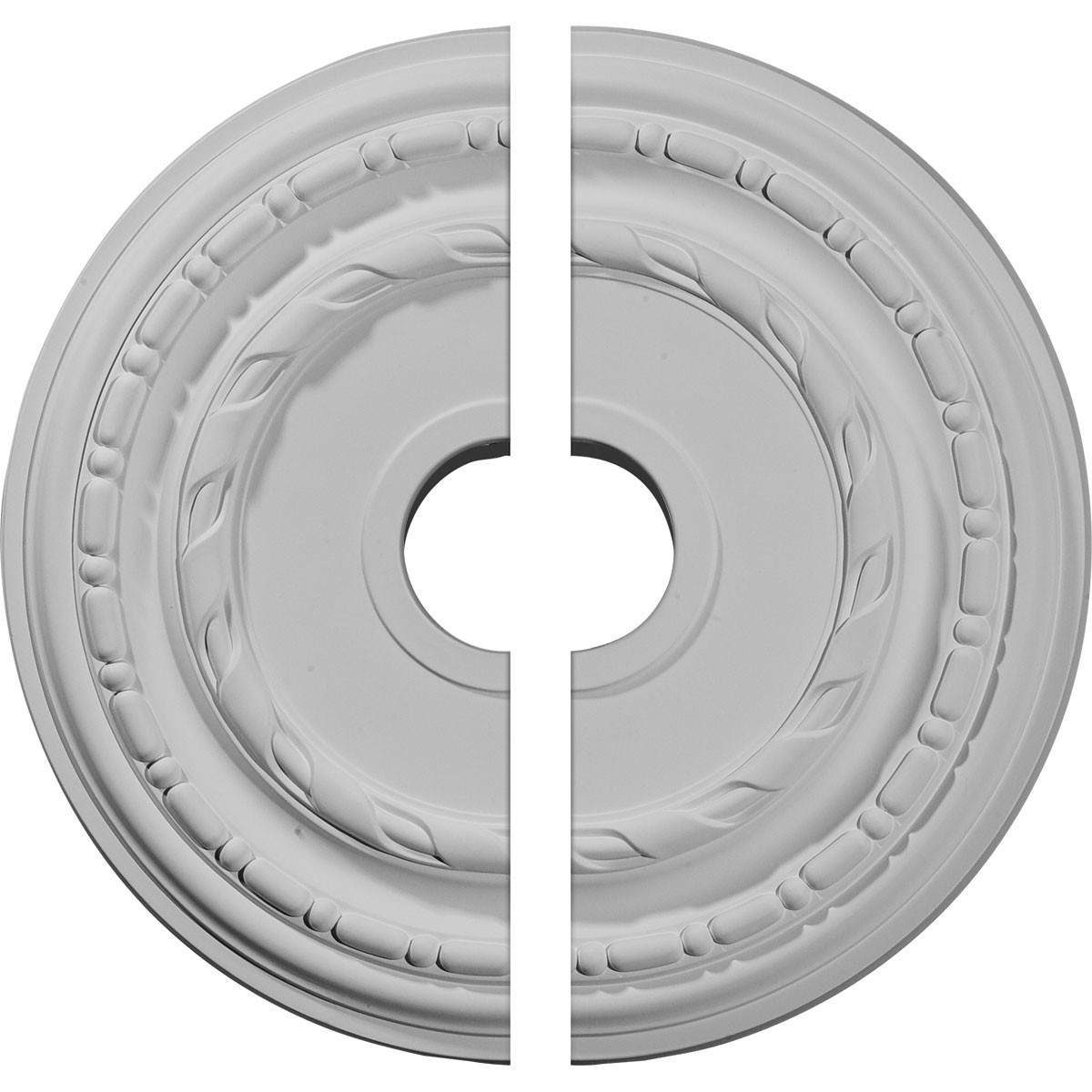 """EM-CM17DU2 - 17 7/8""""OD x 3 5/8""""ID x 1 1/4""""P Dublin Ceiling Medallion, Two Piece (Fits Canopies up to 5 1/8"""")"""