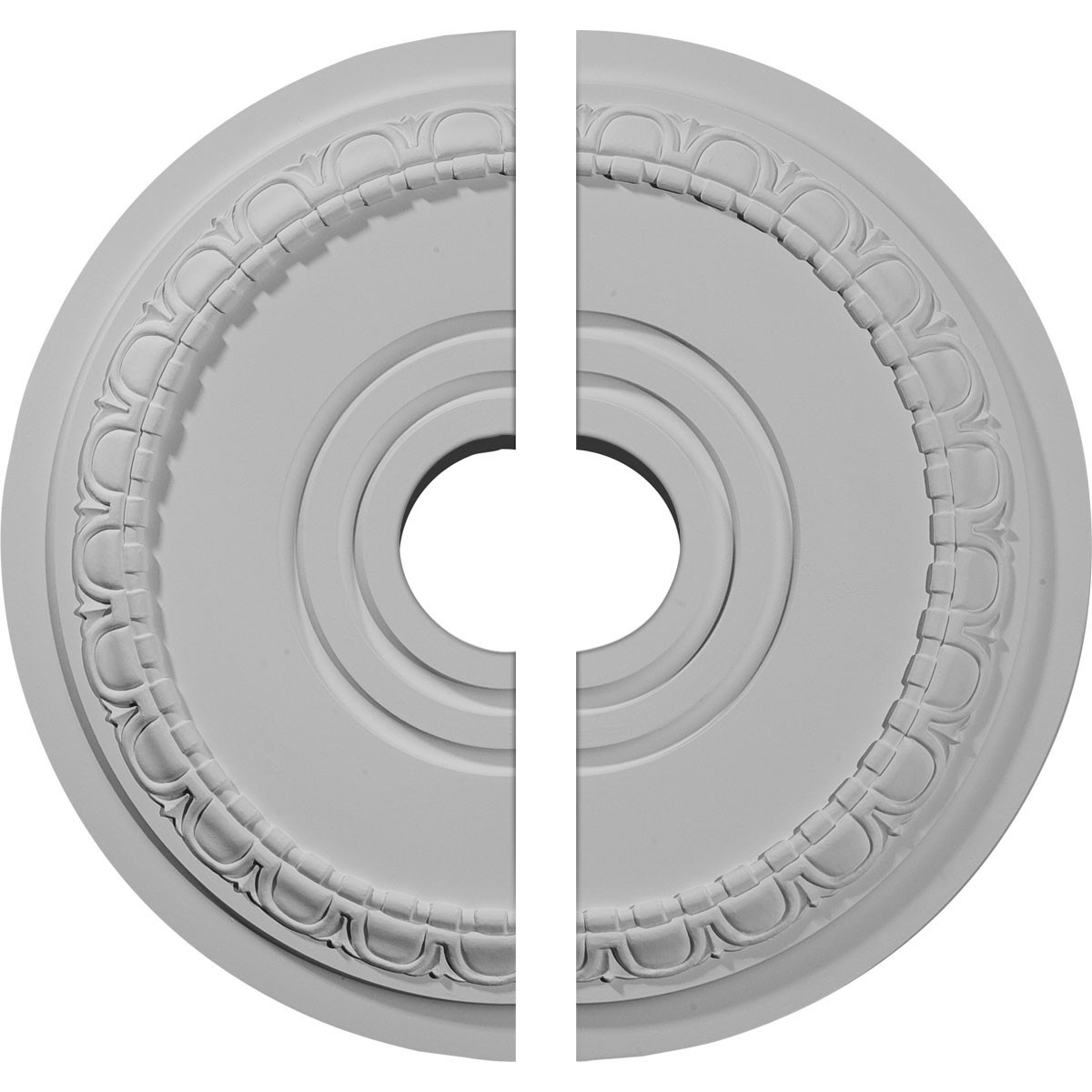 "EM-CM17MU2 - 17 1/2""OD x 3 5/8""ID x 1""P Munich Ceiling Medallion, Two Piece (Fits Canopies up to 5 5/8"")"