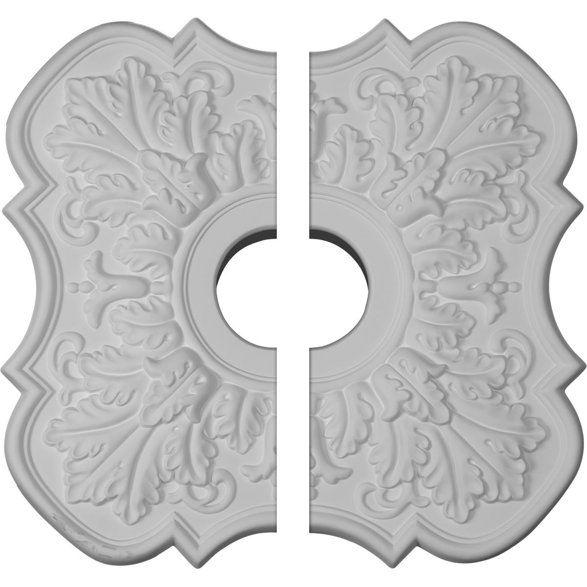 """EM-CM17PE2 - 17 3/4""""OD x 3 1/8""""ID x 1""""P Peralta Ceiling Medallion, Two Piece (Fits Canopies up to 4 5/8"""")"""