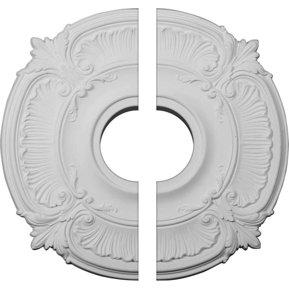 """EM-CM18AT2 - 18""""OD x 4""""ID x 5/8""""P Attica Ceiling Medallion, Two Piece (Fits Canopies up to 5"""")"""