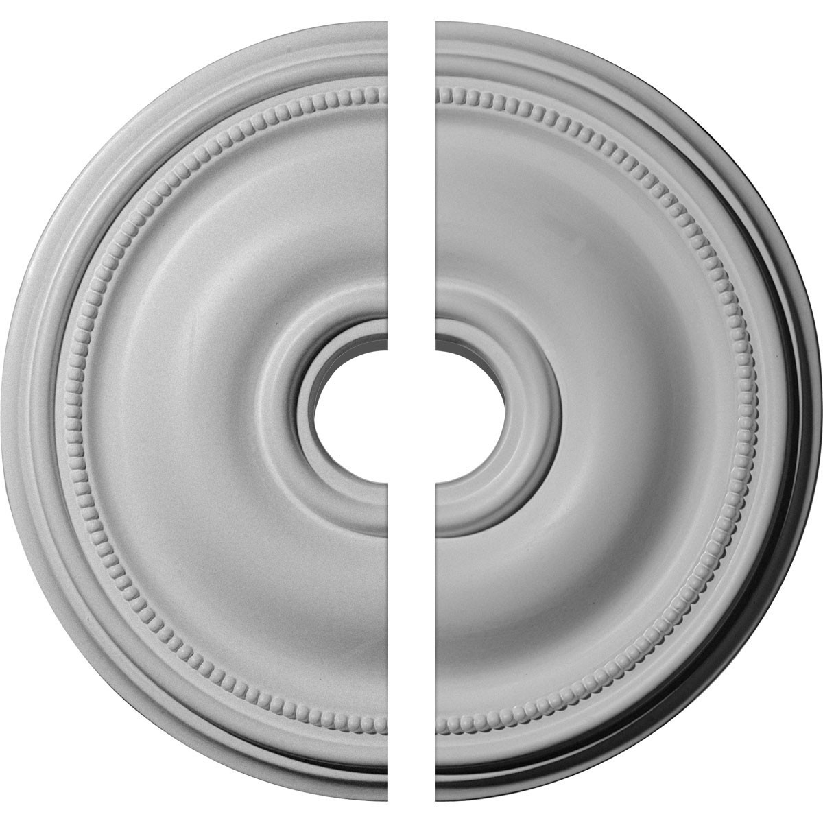 """EM-CM18BR2 - 18 1/8""""OD x 3 3/4""""ID x 1 1/8""""P Bradford Ceiling Medallion, Two Piece (Fits Canopies up to 4 3/8"""")"""