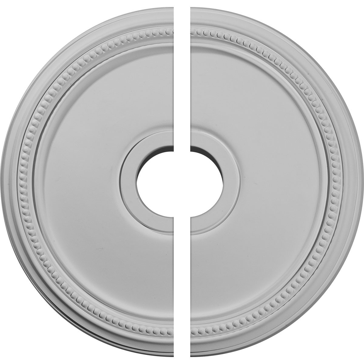 """EM-CM18DI2 - 18""""OD x 3 5/8""""ID x 1 1/8""""P Diane Ceiling Medallion, Two Piece (Fits Canopies up to 5 3/8"""")"""