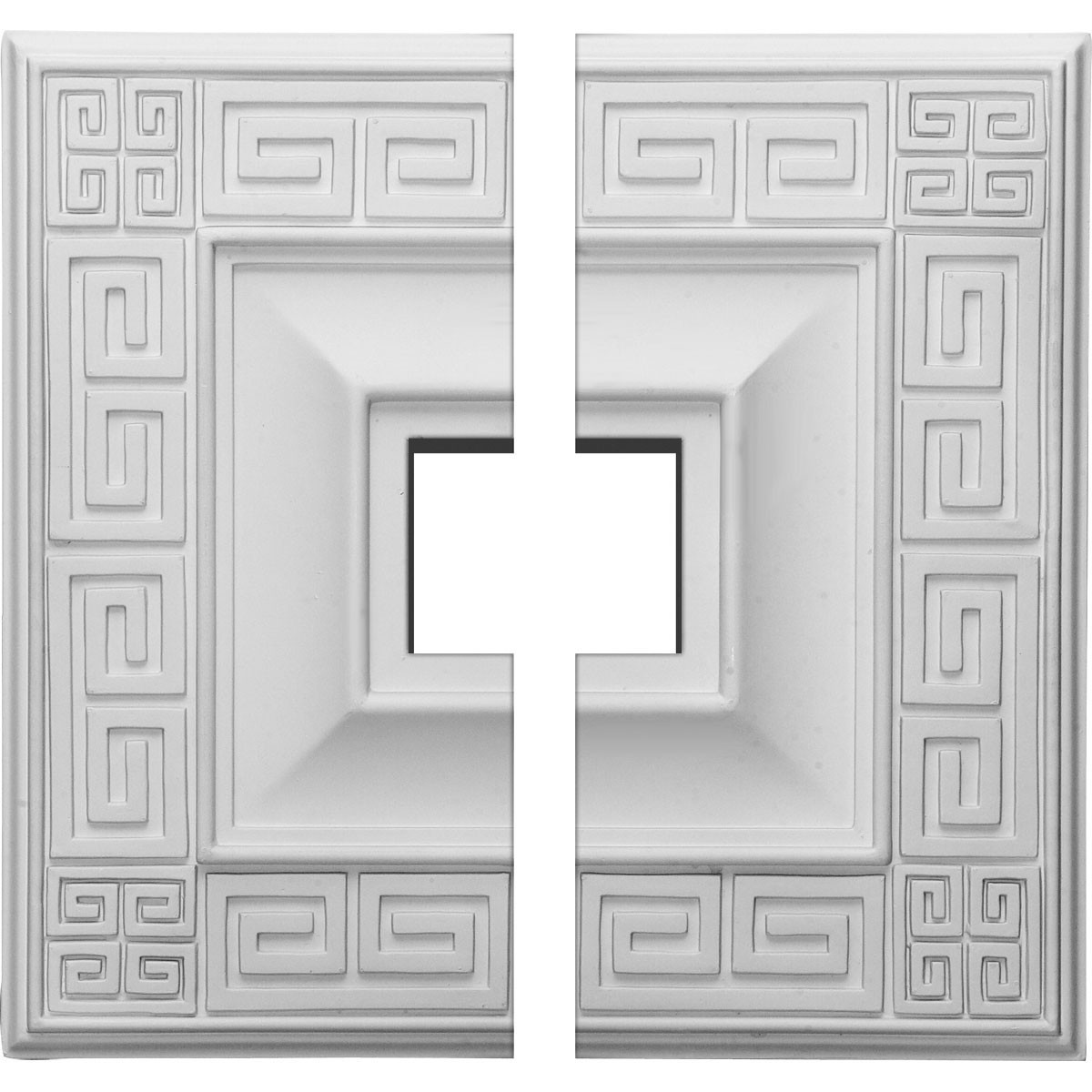 """EM-CM18ER2 - 18""""W x 18""""H x 3 1/2""""ID x 1 1/8""""P Eris Ceiling Medallion, Two Piece (Fits Canopies up to 9 7/8"""")"""