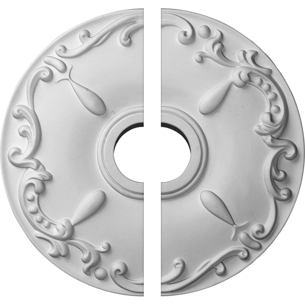 """EM-CM18KE2 - 18""""OD x 3 1/2""""ID x 1 1/4""""P Kent Ceiling Medallion, Two Piece (Fits Canopies up to 5"""")"""