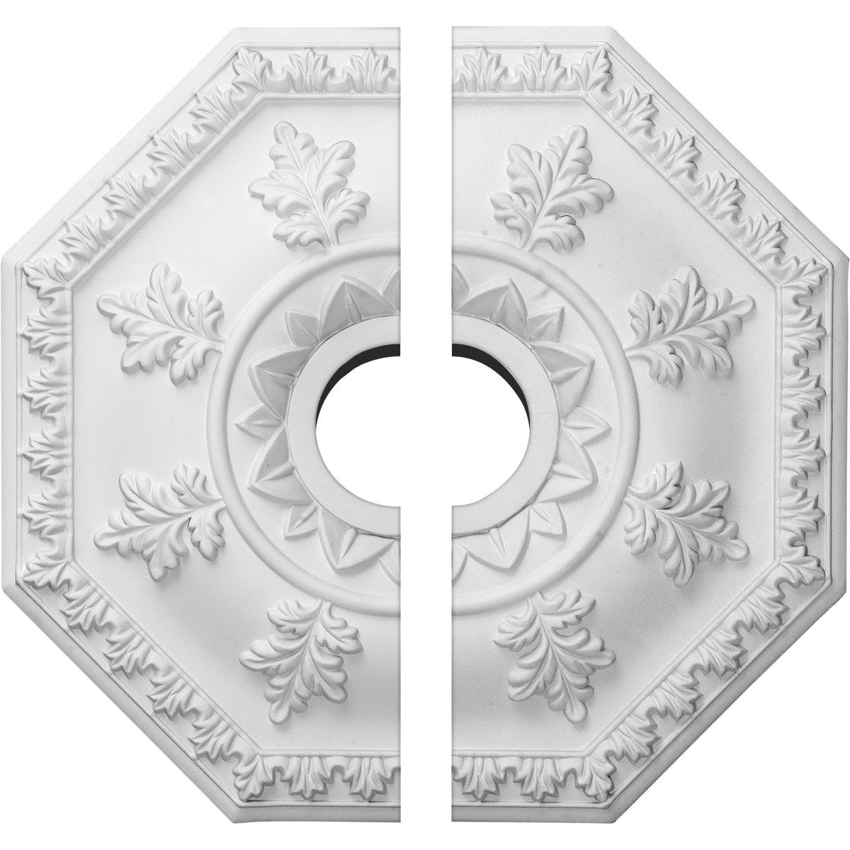 """EM-CM18NT2 - 18""""OD x 3 1/2""""ID x 1 1/2""""P Nottingham Ceiling Medallion, Two Piece (Fits Canopies up to 4 5/8"""")"""