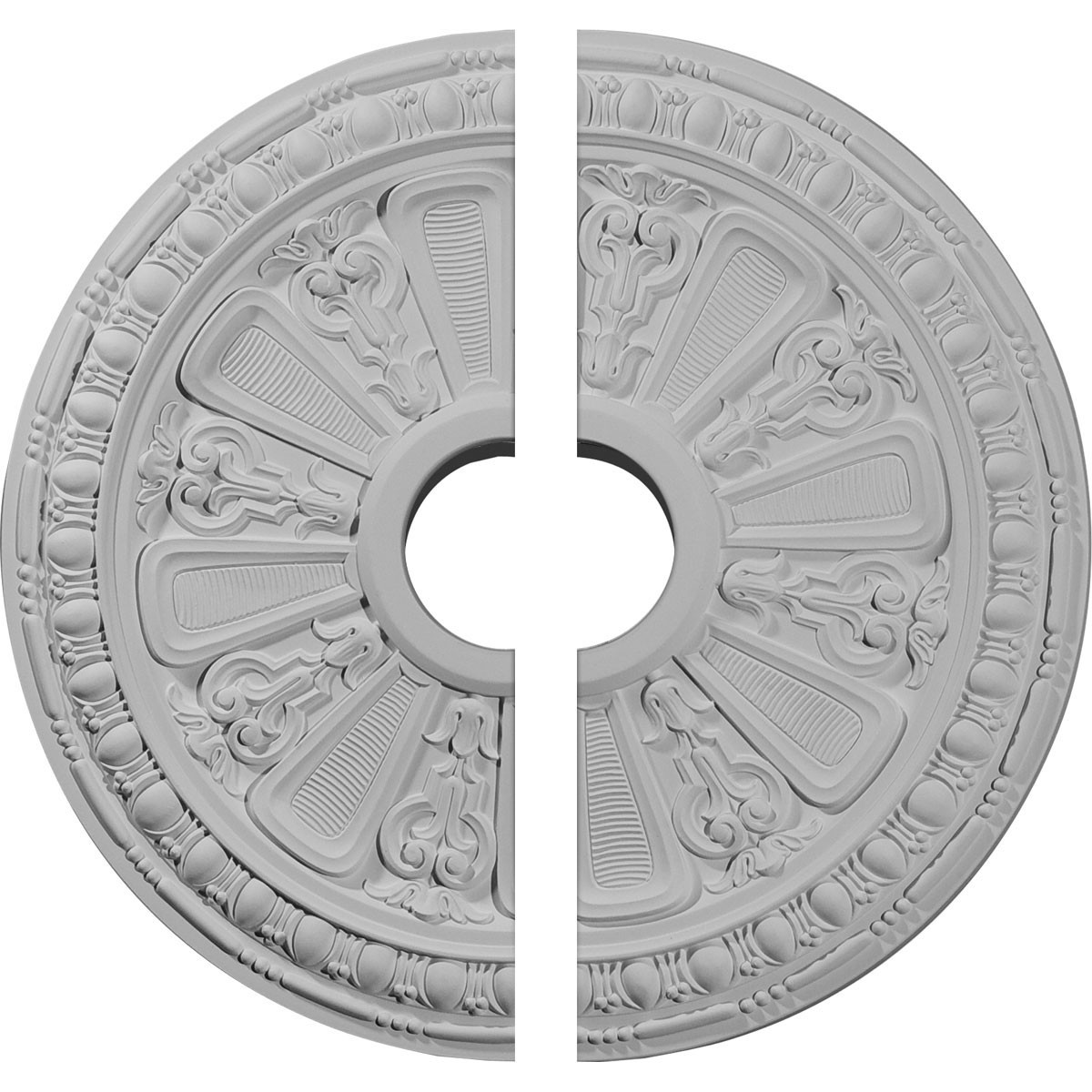 """EM-CM18RA2-03625 - 18 1/8""""OD 3 5/8""""ID x 1 1/8""""P Raymond Ceiling Medallion, Two Piece (Fits Canopies up to 5 1/8"""")"""