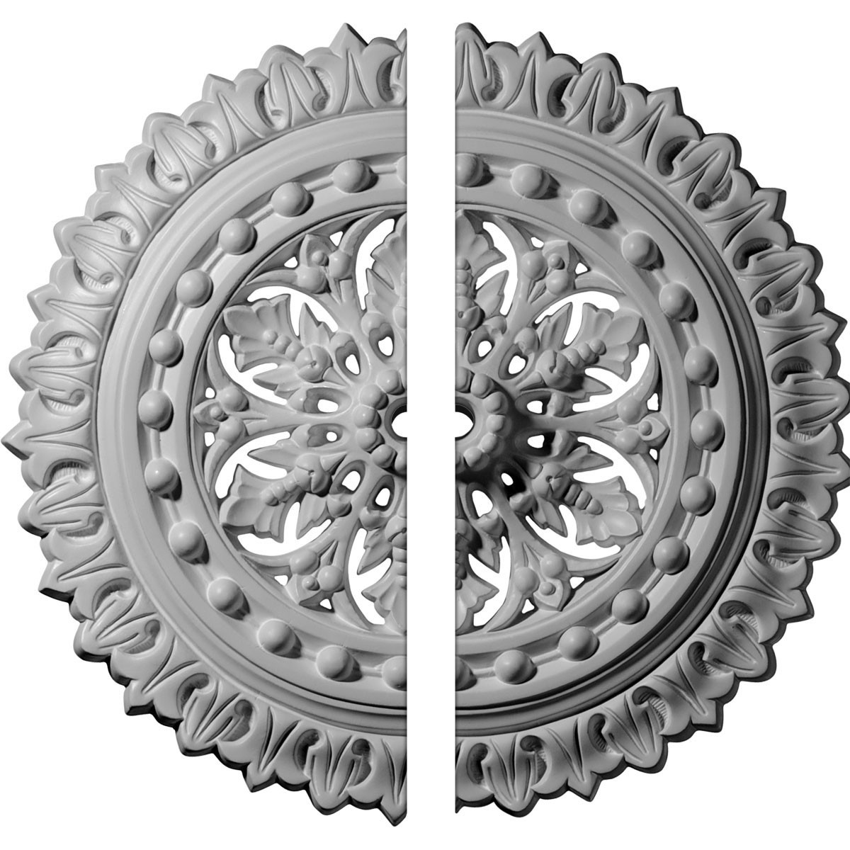 "EM-CM18SK2 - 18 1/2""OD x 7/8""ID x 1 1/2""P Sellek Ceiling Medallion, Two Piece (Fits Canopies up to 1 1/8"")"