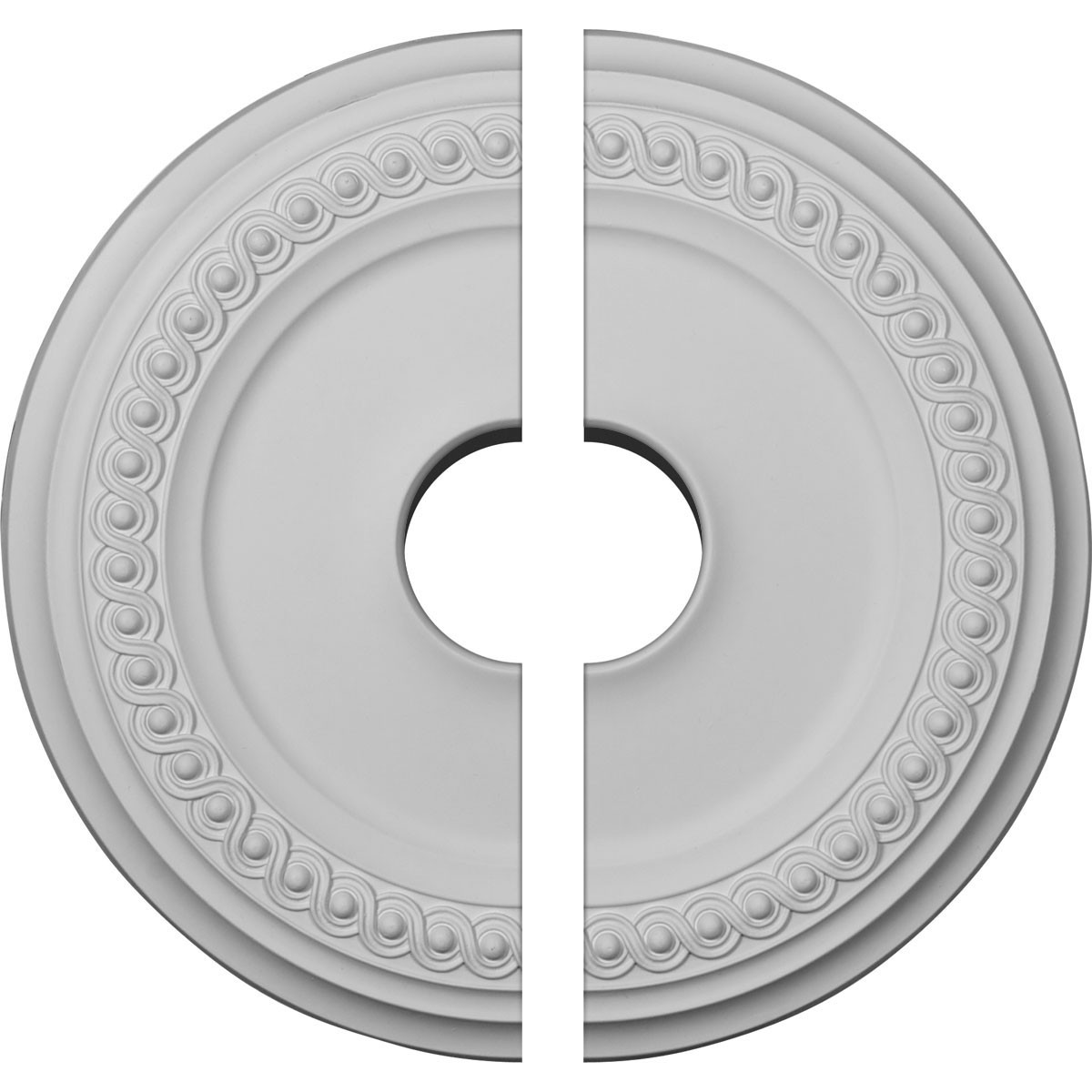 """EM-CM19CL2 - 18 5/8""""OD 4""""ID x 1 1/8""""P Classic Ceiling Medallion, Two Piece (Fits Canopies up to 12 3/4"""")"""