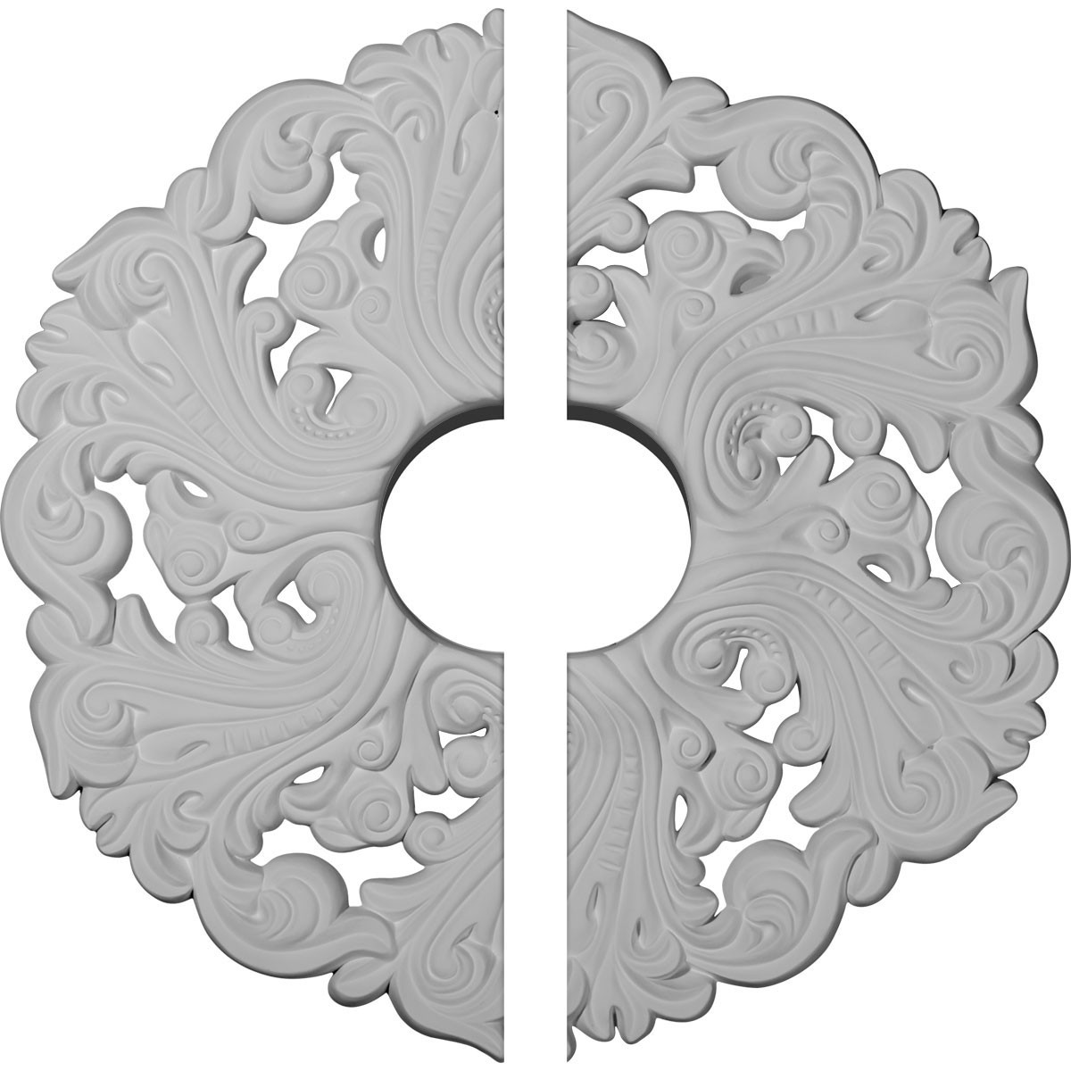 "EM-CM19OR2 - 19 5/8""OD x 4 3/4""ID x 1 3/4""P Orrington Ceiling Medallion, Two Piece (Fits Canopies up to 4 3/4"")"