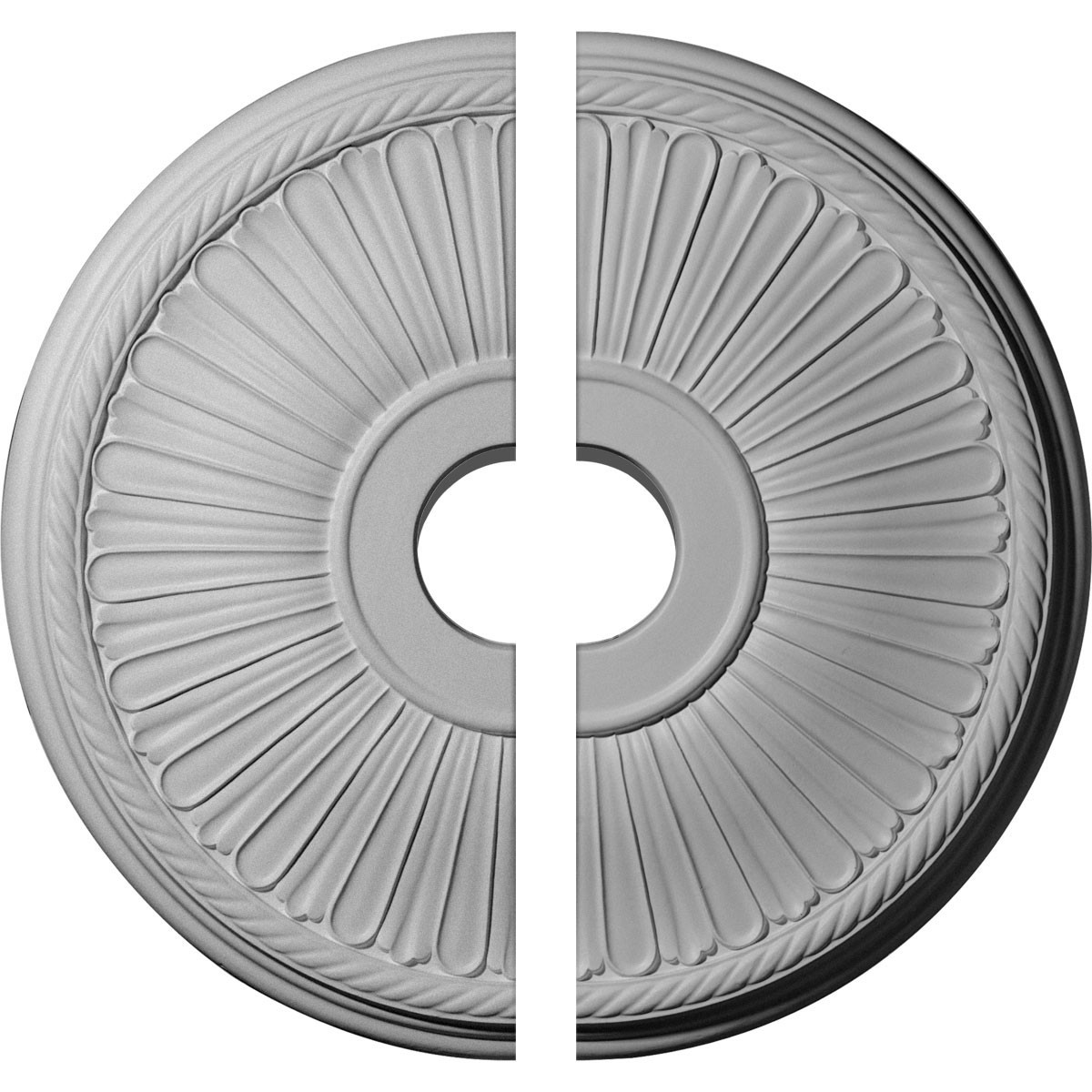 "EM-CM20BE12 - 20 1/8""OD x 3 7/8""ID x 1 7/8""P Berkshire Ceiling Medallion, Two Piece (Fits Canopies up to 6 3/8"")"