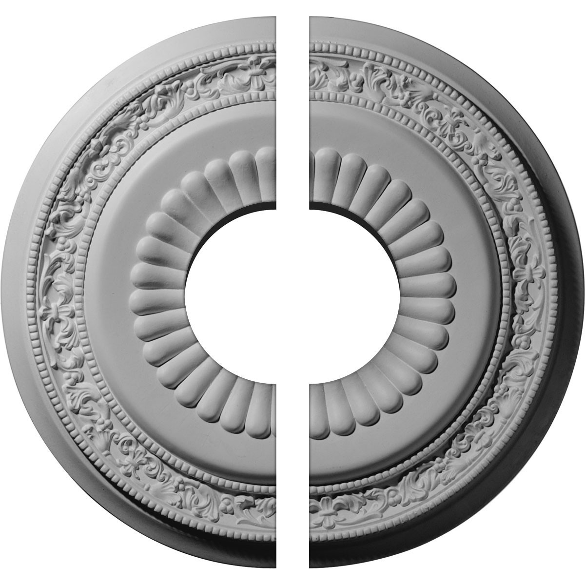 "EM-CM20LN2 - 20 5/8""OD x 6 1/4""ID x 1 3/8""P Lauren Ceiling Medallion, Two Piece (Fits Canopies up to 6 1/4"")"