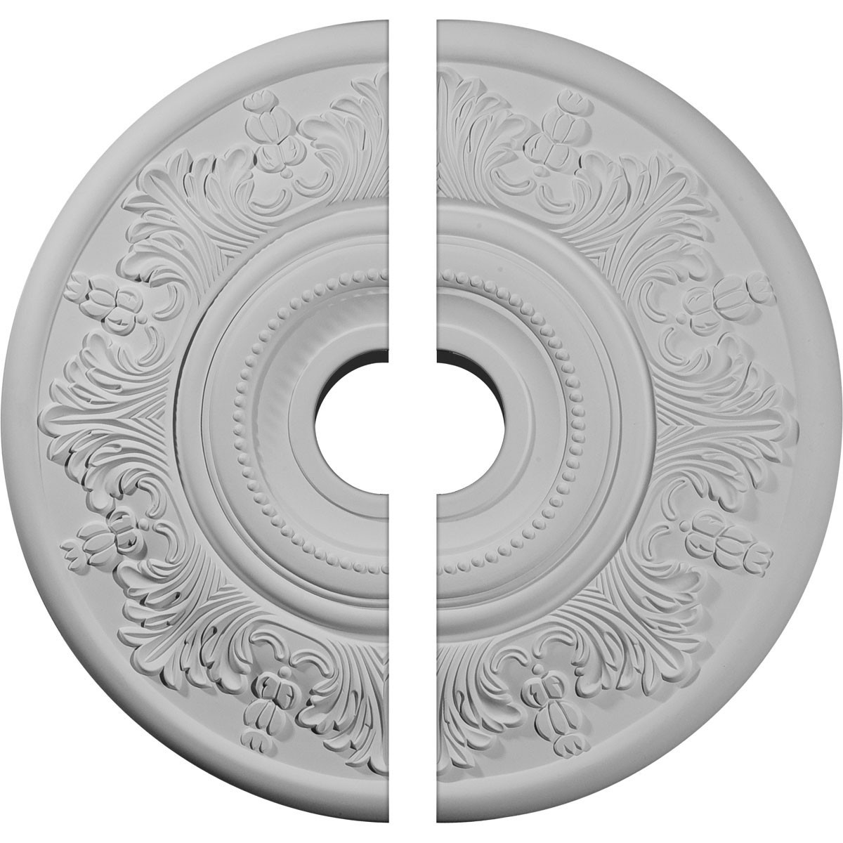 """EM-CM20VI2 - 20""""OD x 3 1/2""""ID x 1 1/2""""P Vienna Ceiling Medallion, Two Piece (Fits Canopies up to 6 1/2"""")"""