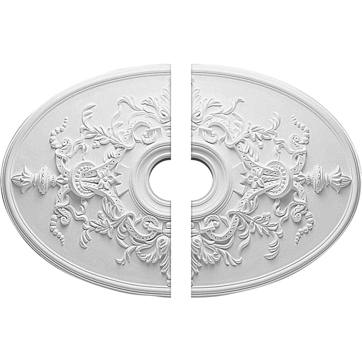 """EM-CM21X30AL2 - 21 1/4""""W x 30 3/4""""H x 3 7/8""""ID x 1 5/8""""P Alexa Ceiling Medallion, Two Piece (Fits Canopies up to 5 5/8"""")"""