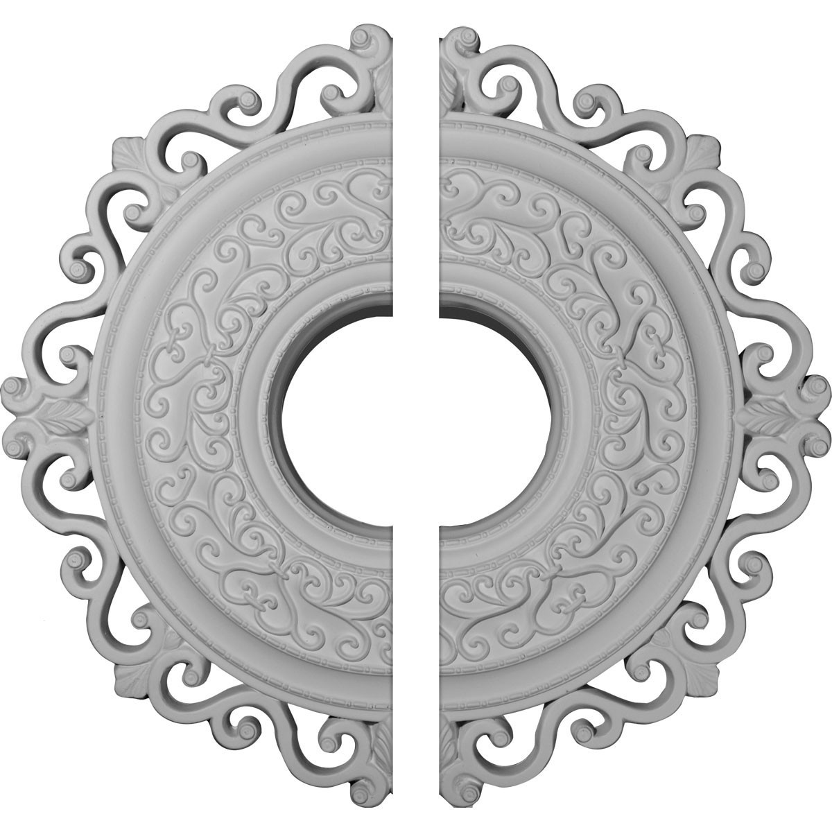 """EM-CM22OR2 - 22""""OD x 6 1/4""""ID x 1 3/4""""P Orrington Ceiling Medallion, Two Piece (Fits Canopies up to 6 1/4"""")"""