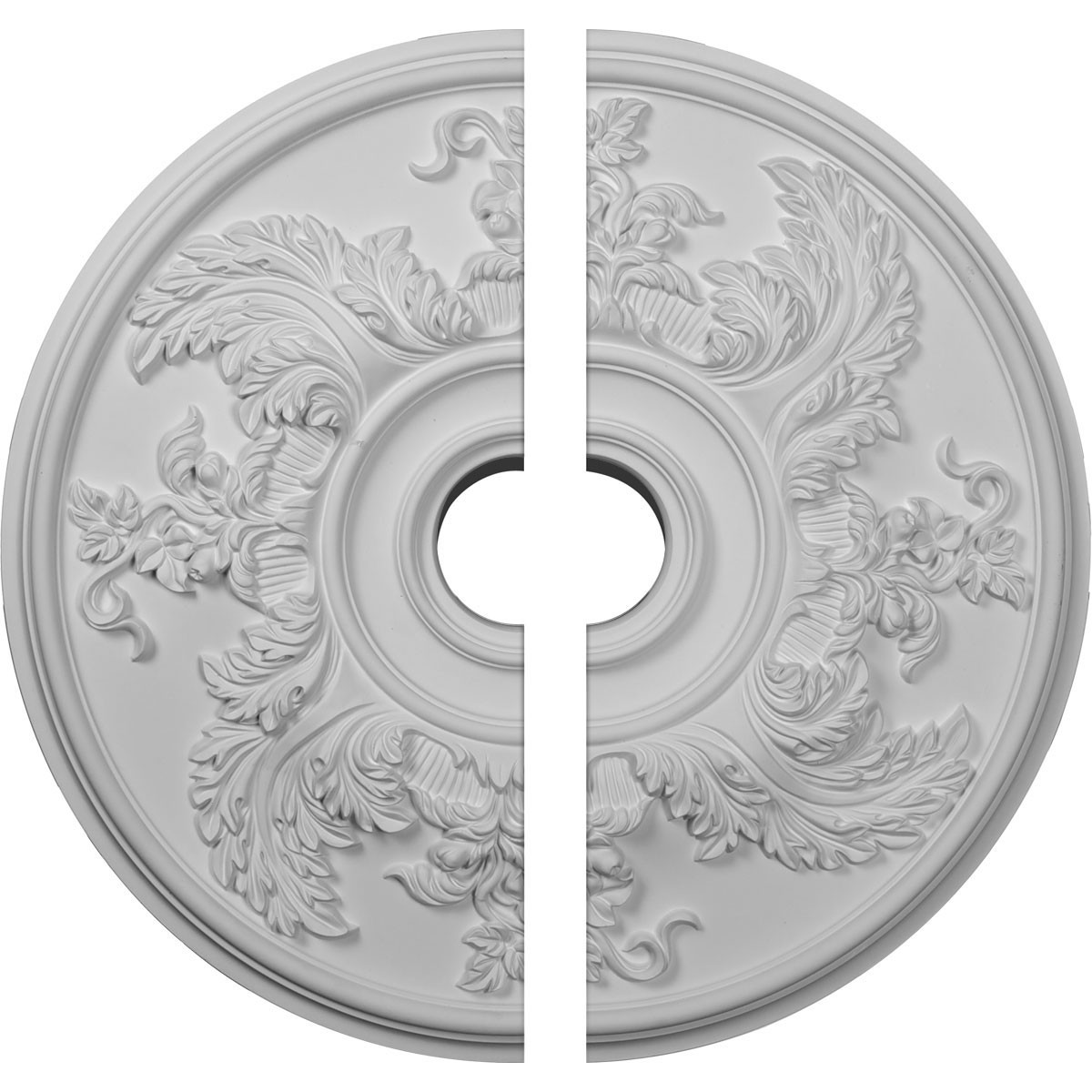"""EM-CM23AC2 - 23 5/8""""OD x 4 5/8""""ID x 1 7/8""""P Acanthus Twist Ceiling Medallion, Two Piece (Fits Canopies up to 8 3/8"""")"""