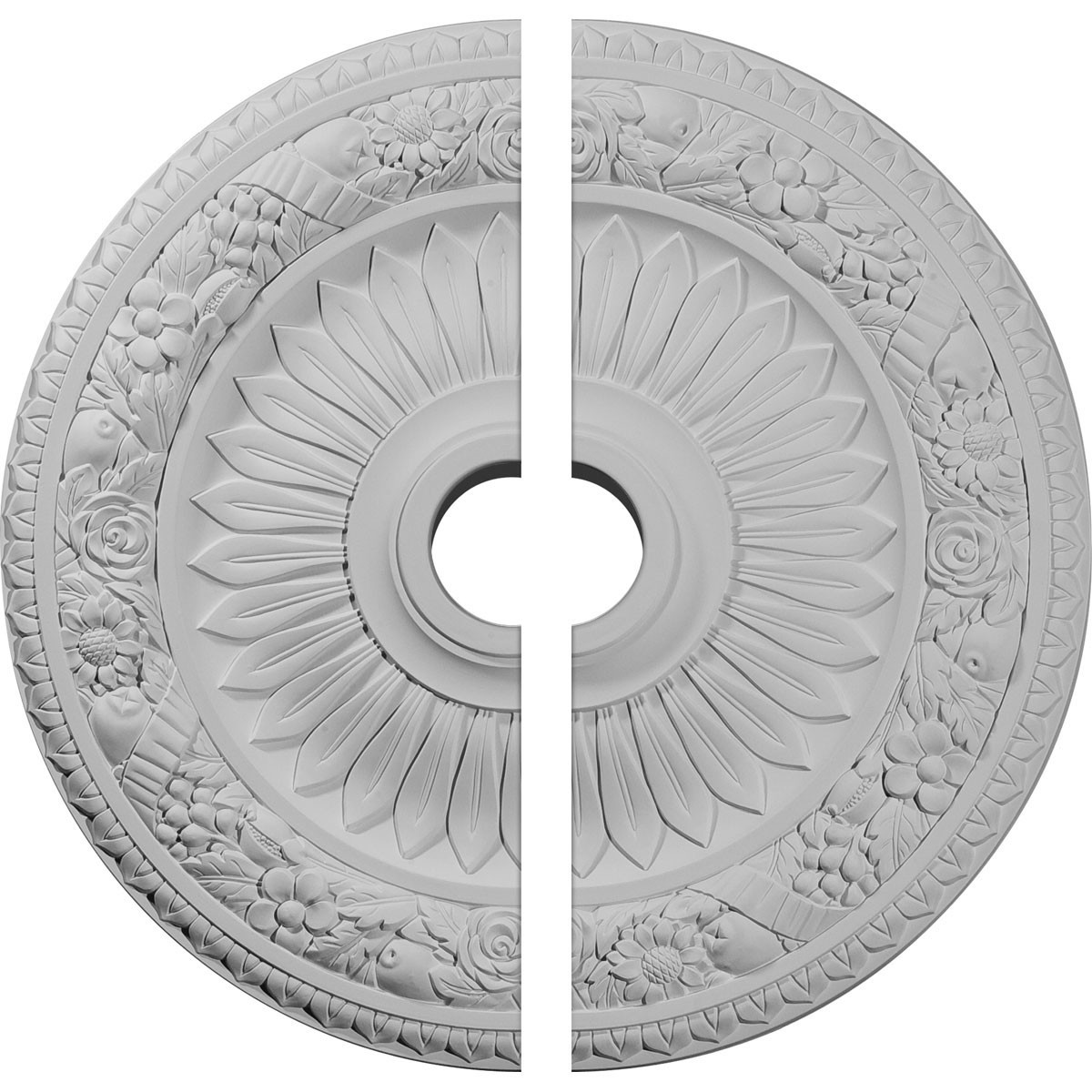 """EM-CM23BE2 - 23 5/8""""OD x 3 5/8""""ID x 1 1/8""""P Bellona Ceiling Medallion, Two Piece (Fits Canopies up to 3 5/8"""")"""