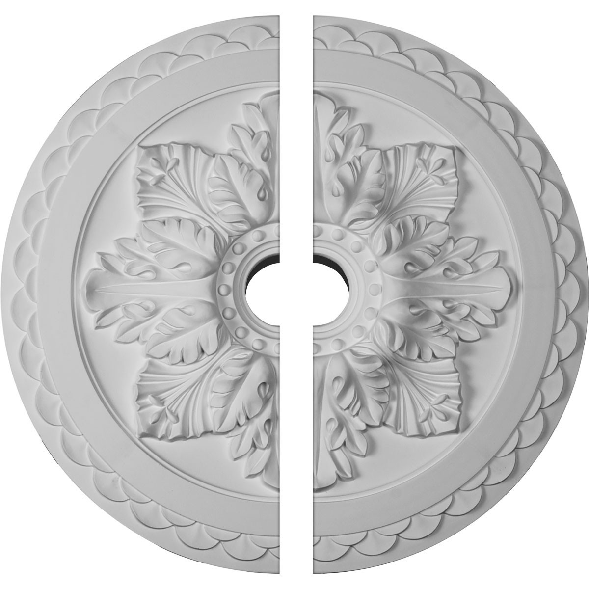 """EM-CM23BO2 - 23 5/8""""OD x 3""""ID x 2""""P Bordeaux Deluxe Ceiling Medallion, Two Piece (Fits Canopies up to 4"""")"""