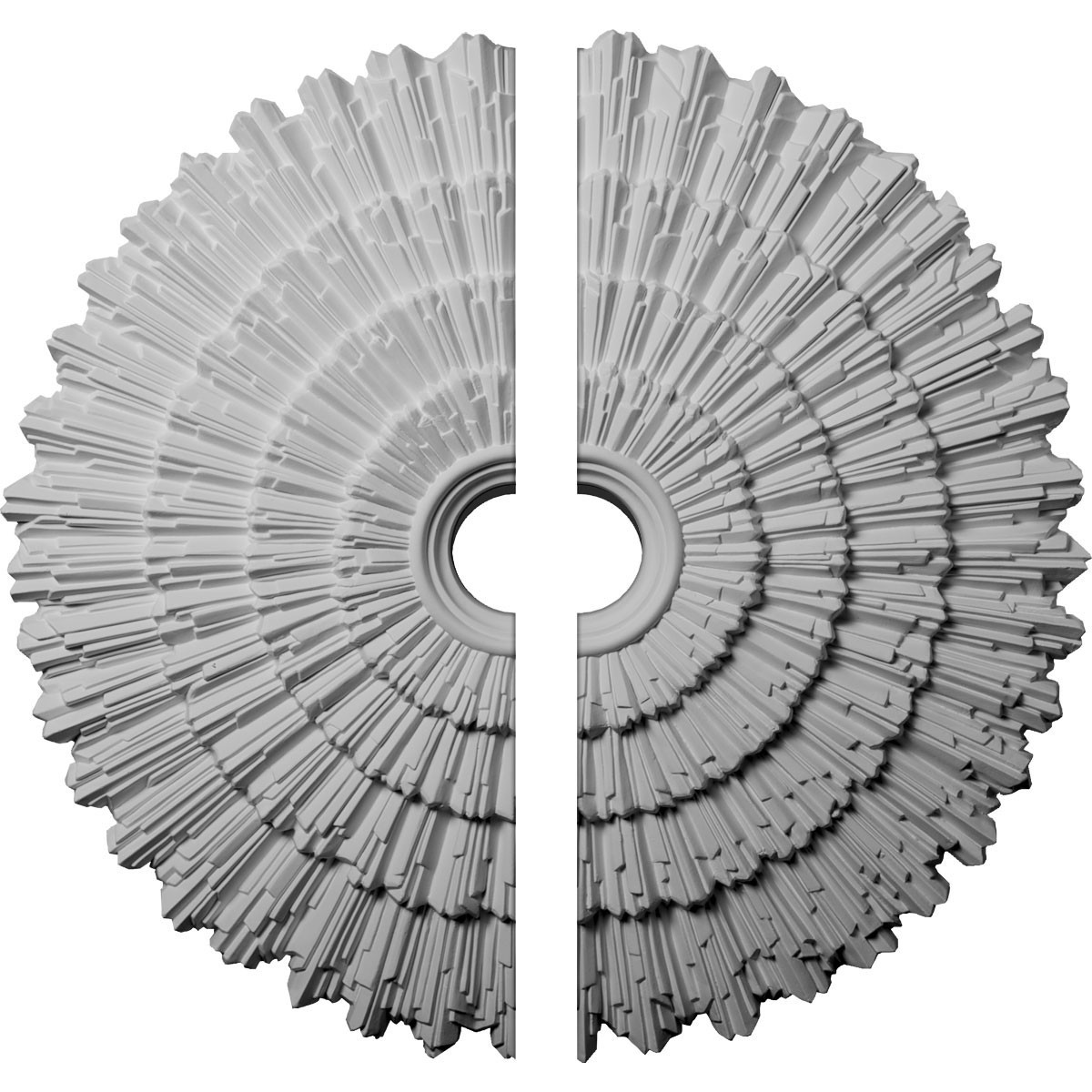 """EM-CM24EN2 - 24 3/4""""OD x 3 1/4""""ID x 1 7/8""""P Eryn Ceiling Medallion, Two Piece (Fits Canopies up to 4"""")"""