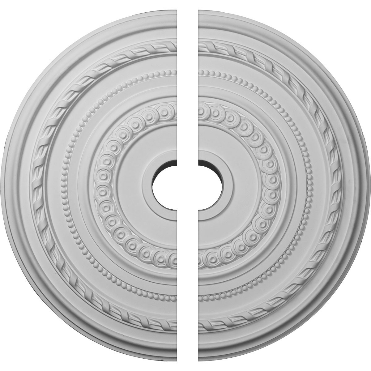 """EM-CM25CO2 - 25 3/8""""OD x 3 3/8""""ID x 1 3/8""""P Cole Ceiling Medallion, Two Piece (Fits Canopies up to 9 1/8"""")"""