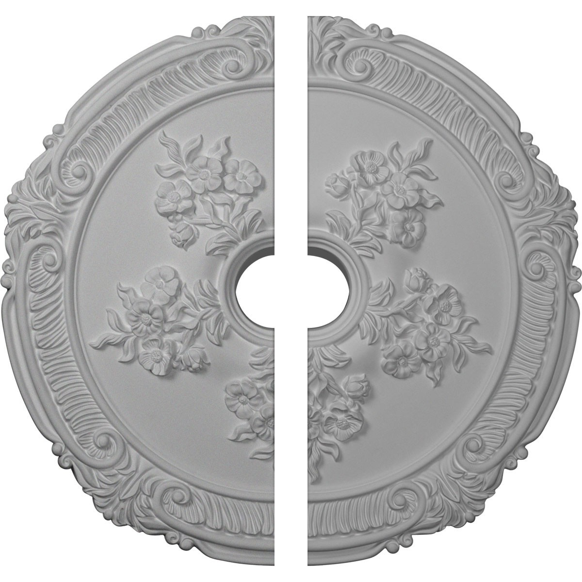 """EM-CM26AT2 - 26""""OD x 3 3/4""""ID x 1 1/2""""P Attica with Rose Ceiling Medallion, Two Piece (Fits Canopies up to 4 1/2"""")"""