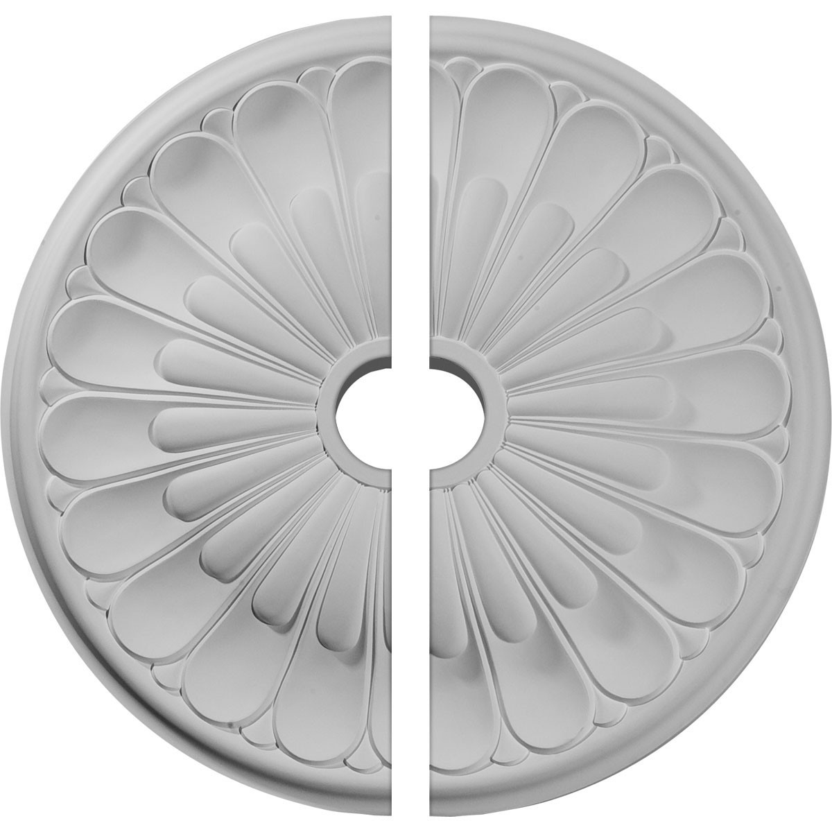 """EM-CM26EL2 - 26 3/4""""OD x 3 5/8""""ID x 1 3/8""""P Elsinore Ceiling Medallion, Two Piece (Fits Canopies up to 3 5/8"""")"""