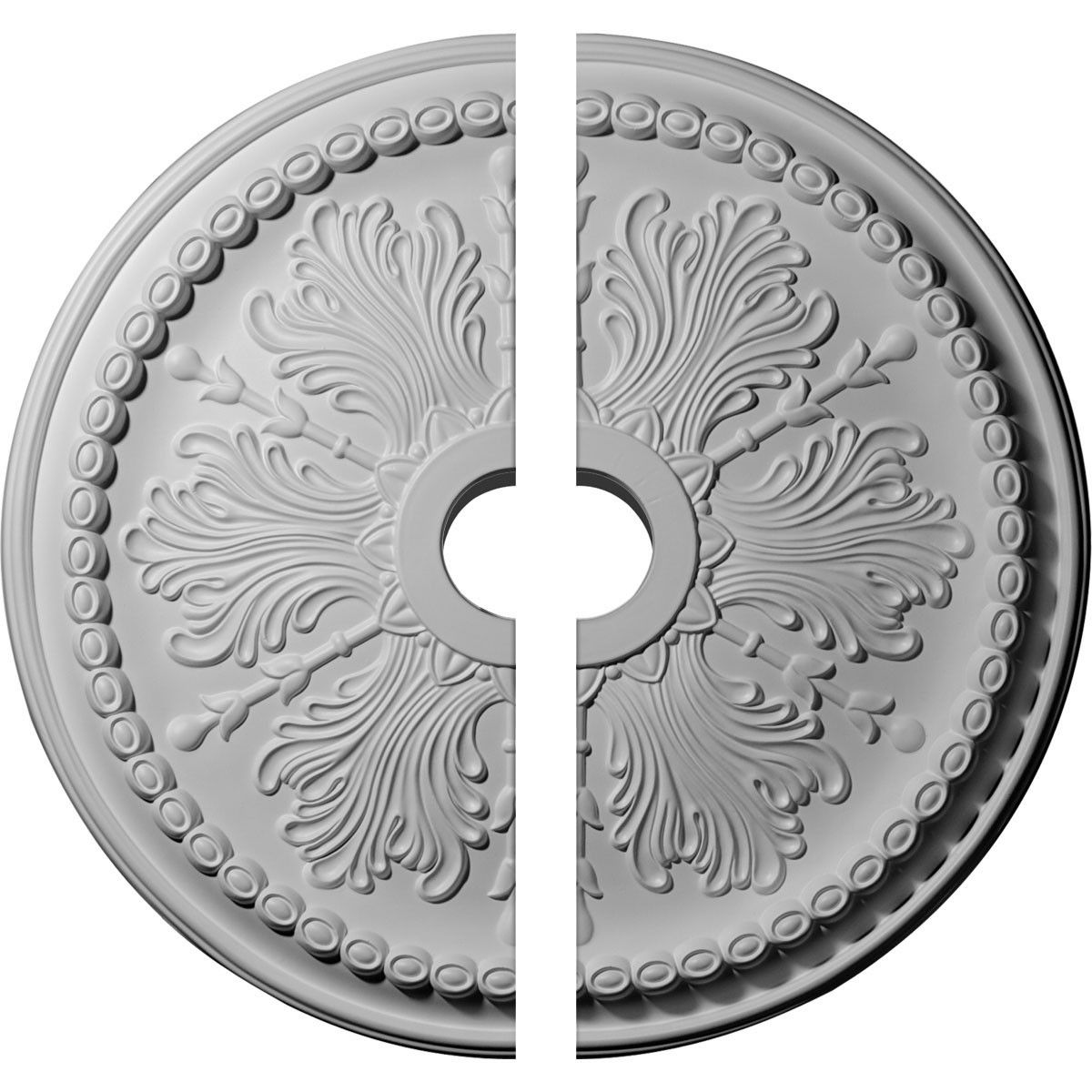 """EM-CM27WI2 - 27 1/2""""OD x 4""""ID x 1 1/2""""P Winsor Ceiling Medallion, Two Piece (Fits Canopies up to 4"""")"""