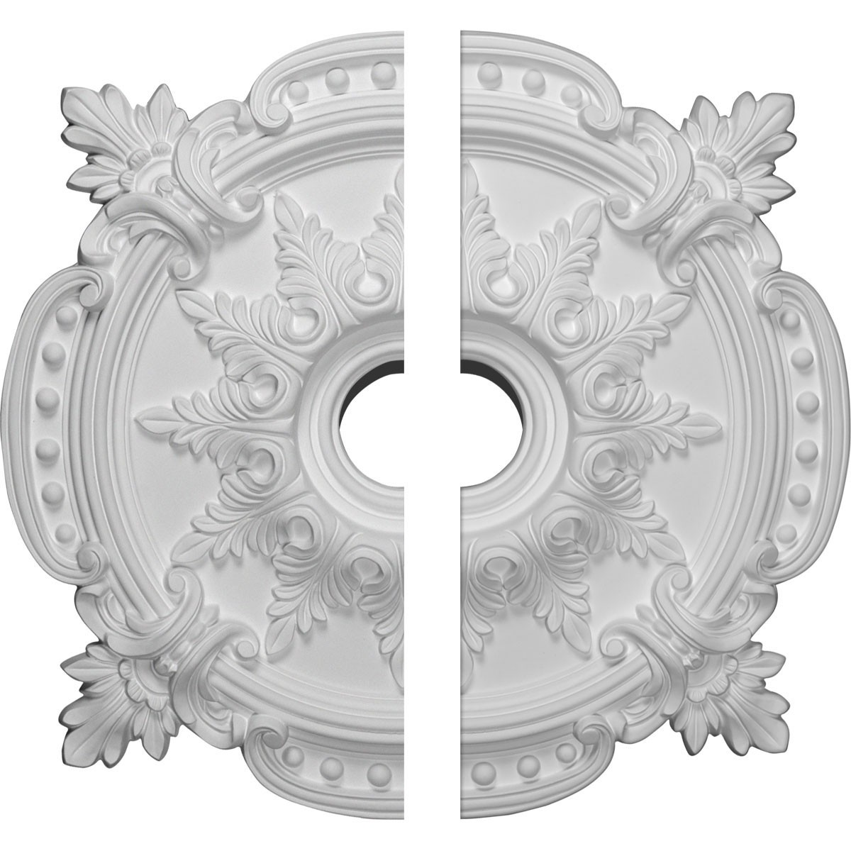 """EM-CM28BE2 - 28 3/8""""OD x 4 1/2""""ID x 1 5/8""""P Benson Classic Ceiling Medallion, Two Piece (Fits Canopies up to 6 1/2"""")"""