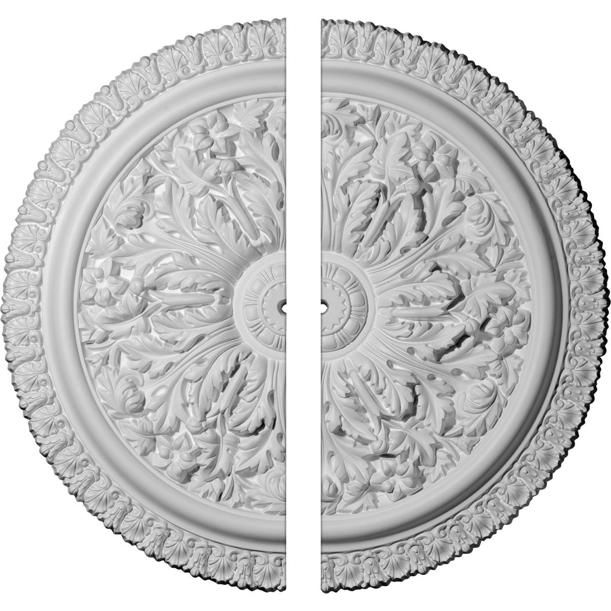 """EM-CM28NI2 - 28 3/4""""OD x 7/8""""ID x 1 7/8""""P Nicole Ceiling Medallion, Two Piece (Fits Canopies up to 5 3/4"""")"""