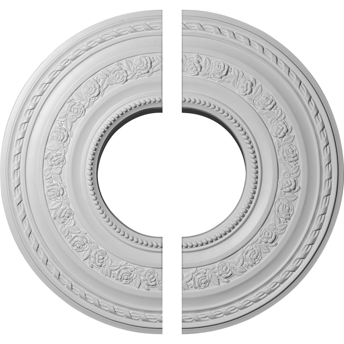 """EM-CM29AT2 - 29 3/8""""OD x 11 5/8""""ID x 1 1/8""""P Anthony Ceiling Medallion, Two Piece (Fits Canopies up to 11 5/8"""")"""