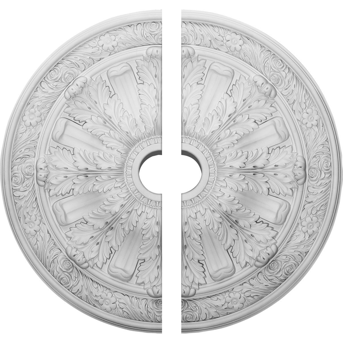 """EM-CM30FL2 - 30""""OD x 3 7/8""""ID x 3 1/4""""P Flagstone Ceiling Medallion, Two Piece (Fits Canopies up to 3 7/8"""")"""