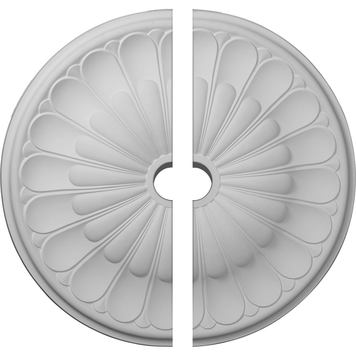 """EM-CM31GO2 - 31 5/8""""OD x 3 5/8""""ID x 1 7/8""""P Gorleen Ceiling Medallion, Two Piece (Fits Canopies up to 3 5/8"""")"""