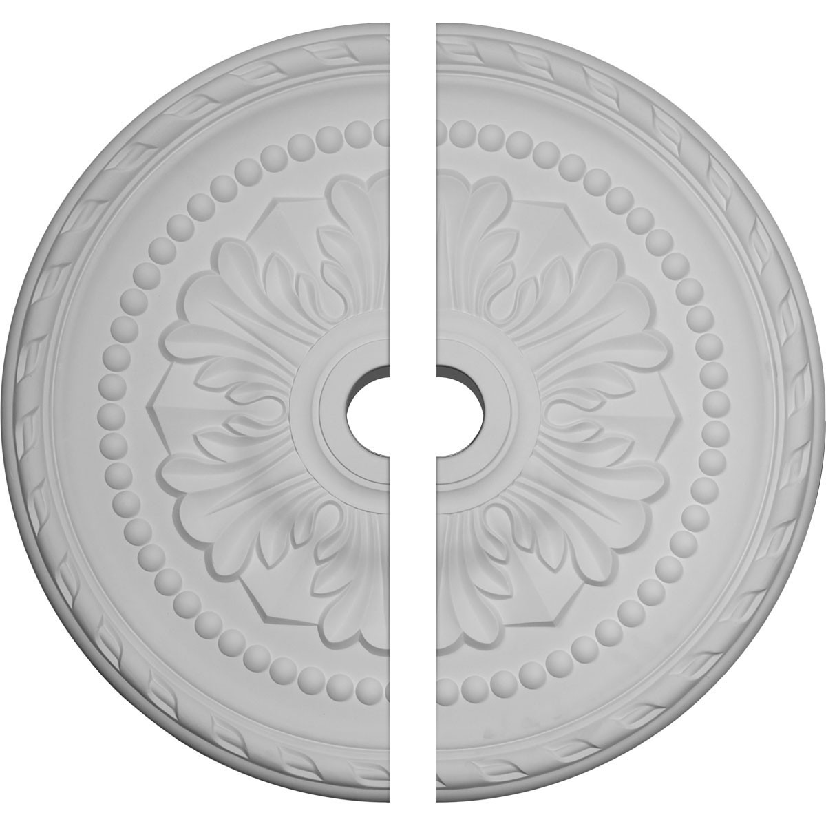 """EM-CM31PM2 - 31 1/2""""OD x 3 5/8""""ID x 1 3/4""""P Palmetto Ceiling Medallion, Two Piece (Fits Canopies up to 7 5/8"""")"""