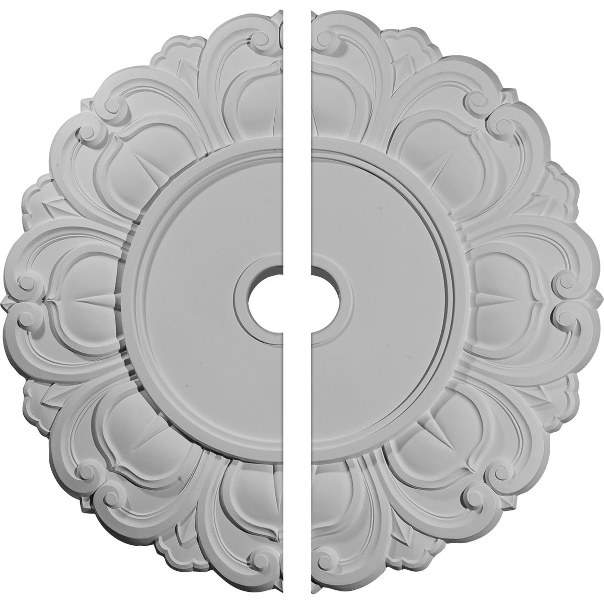 """EM-CM32AN2 - 32 1/4""""OD x 3 5/8""""ID x 1 1/8""""P Angel Ceiling Medallion, Two Piece (Fits Canopies up to 15 3/4"""")"""