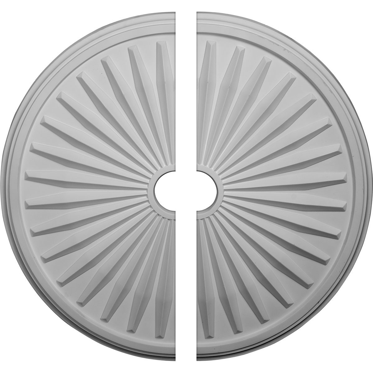"""EM-CM33LE2 - 33 1/8""""OD x 3 1/2""""ID x 1 3/8""""P Leandros Ceiling Medallion, Two Piece (Fits Canopies up to 5"""")"""