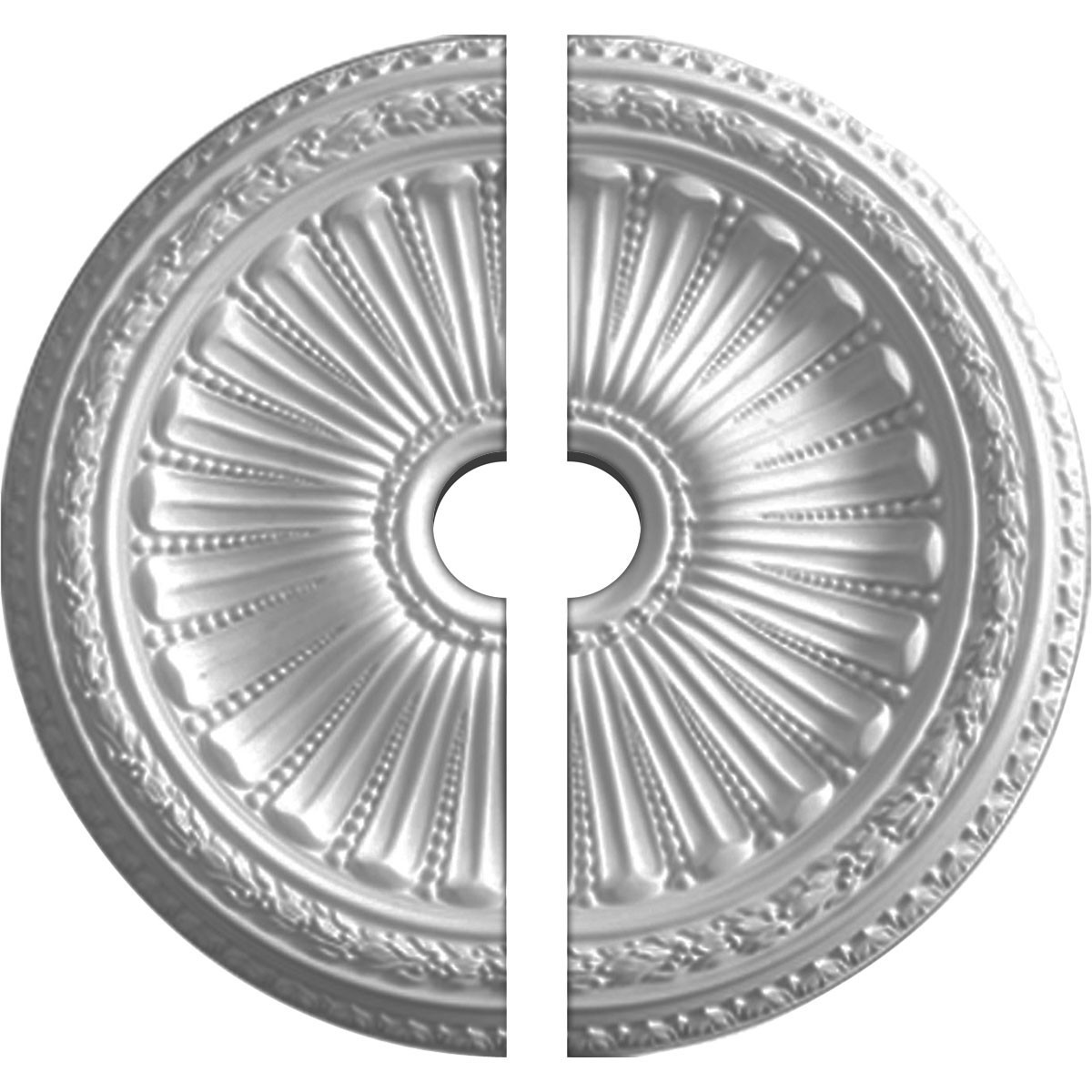 """EM-CM35VI2 - 35 1/8""""OD x 4 7/8""""ID x 2 1/2""""P Viceroy Ceiling Medallion, Two Piece (Fits Canopies up to 4 7/8"""")"""