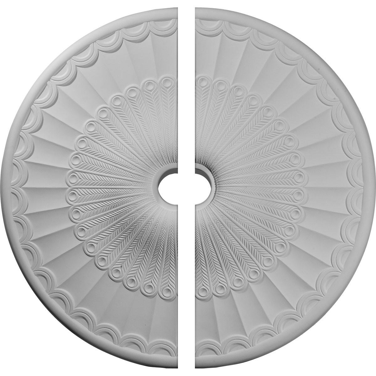 """EM-CM36GL2 - 36 5/8""""OD x 3 5/8""""ID x 2 3/8""""P Galveston Ceiling Medallion, Two Piece (Fits Canopies up to 4 3/4"""")"""