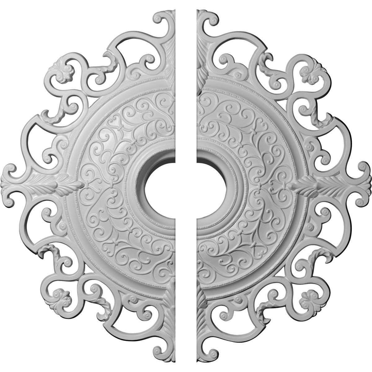 """EM-CM38OL2 - 38 3/8""""OD x 6 5/8""""ID x 2 7/8""""P Orleans Ceiling Medallion, Two Piece (Fits Canopies up to 8 1/4"""")"""
