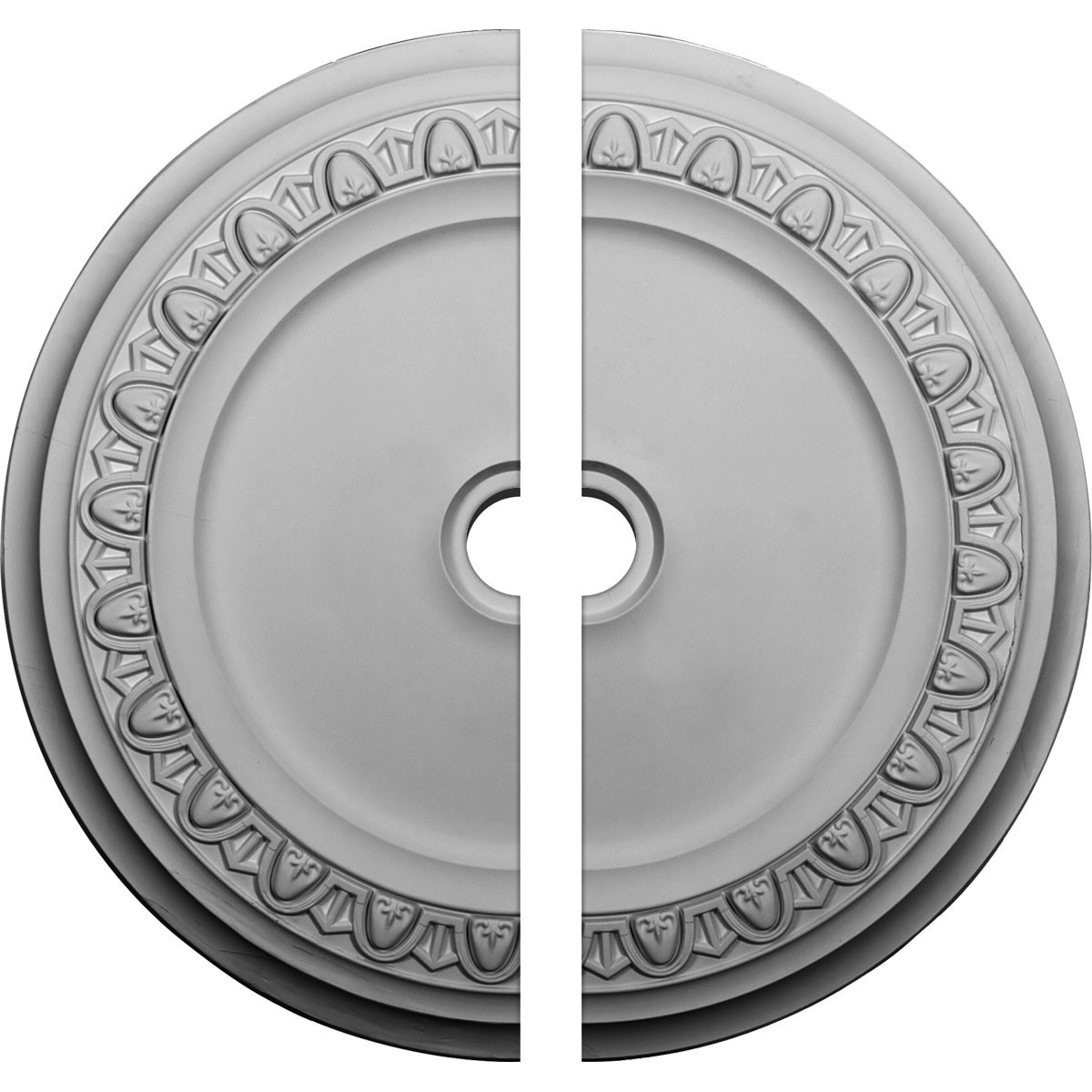 """EM-CM41CA2 - 41""""OD x 4""""ID x 2 3/8""""P Caputo Ceiling Medallion, Two Piece (Fits Canopies up to 5 1/2"""")"""