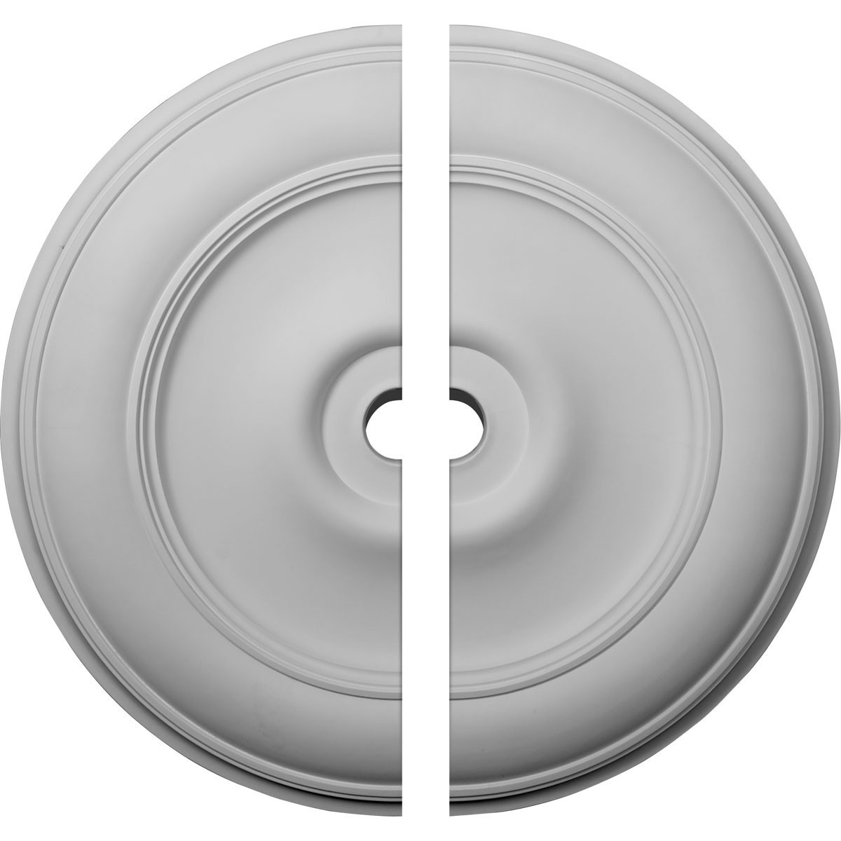"""EM-CM44CL2 - 44 1/2""""OD x 4""""ID x 4 """"P Classic Ceiling Medallion, Two Piece (Fits Canopies up to 8 1/4"""")"""