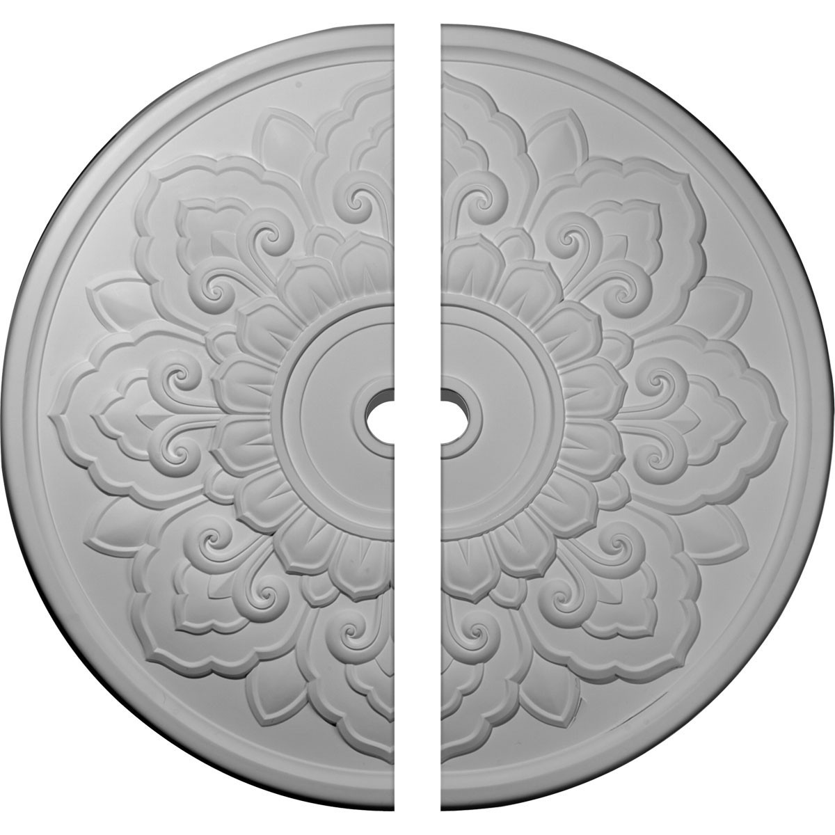 """EM-CM50LO2 - 50 1/8""""OD x 3 5/8""""ID x 1 3/4""""P Lorry Ceiling Medallion, Two Piece (Fits Canopies up to 14 1/8"""")"""