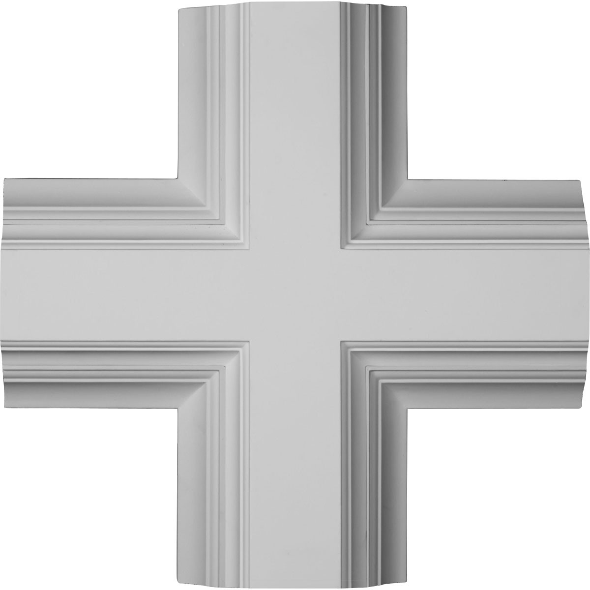 "EM-CC08ICI04X20X20DE - 20""W x 4""P x 20""L Inner Cross Intersection for 8"" Deluxe Coffered Ceiling System (Kit)"