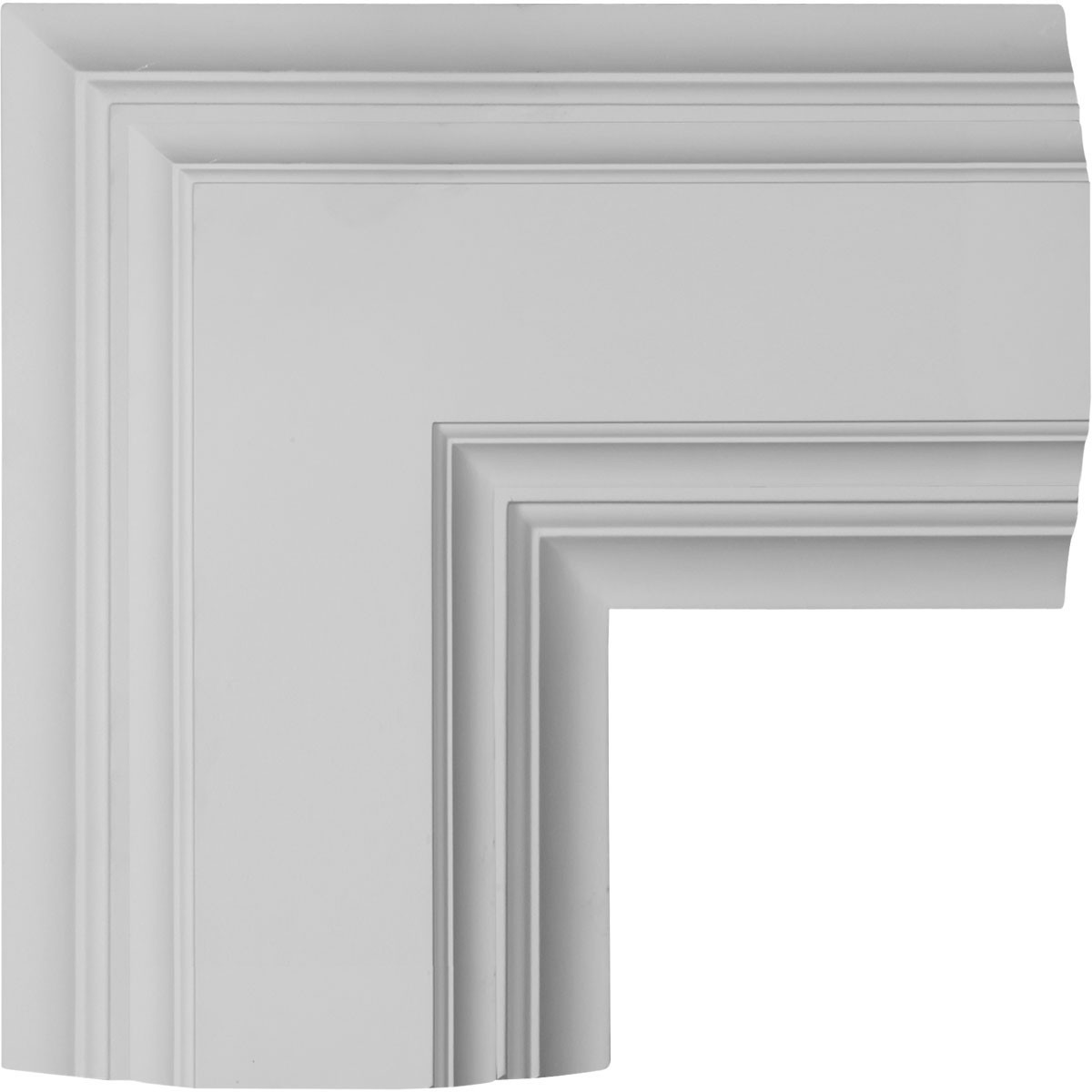"""EM-CC08ICN04X14X14DE - 14""""W x 4""""P x 14""""L Inner Corner for 8"""" Deluxe Coffered Ceiling System (Kit)"""