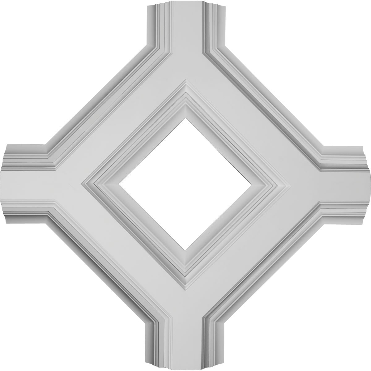 """EM-CC08IDI04X36X36DE - 36""""W x 4""""P x 36""""L Inner Diamond Intersection for 8"""" Deluxe Coffered Ceiling System (Kit)"""