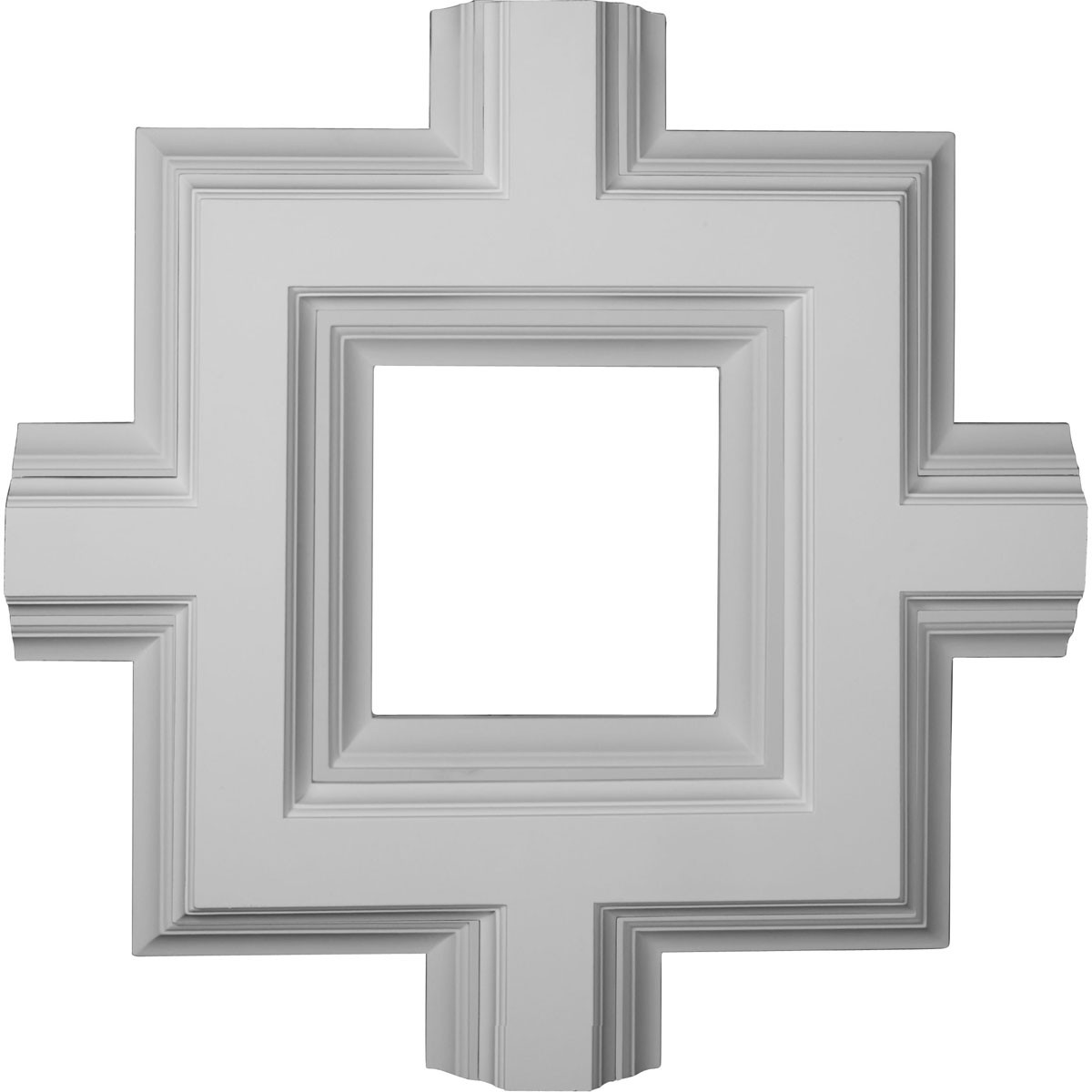 """EM-CC08ISI04X36X36DE - 36""""W x 4""""P x 36""""L Inner Square Intersection for 8"""" Deluxe Coffered Ceiling System (Kit)"""