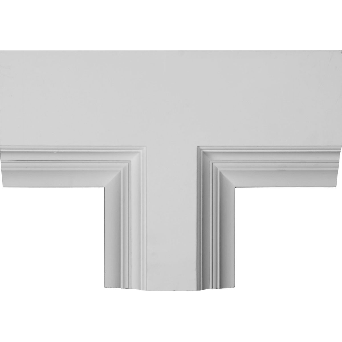 "EM-CC08PTE04X14X20DE - 14""W x 4""P x 20""L Perimeter Tee for 8"" Deluxe Coffered Ceiling System (Kit)"
