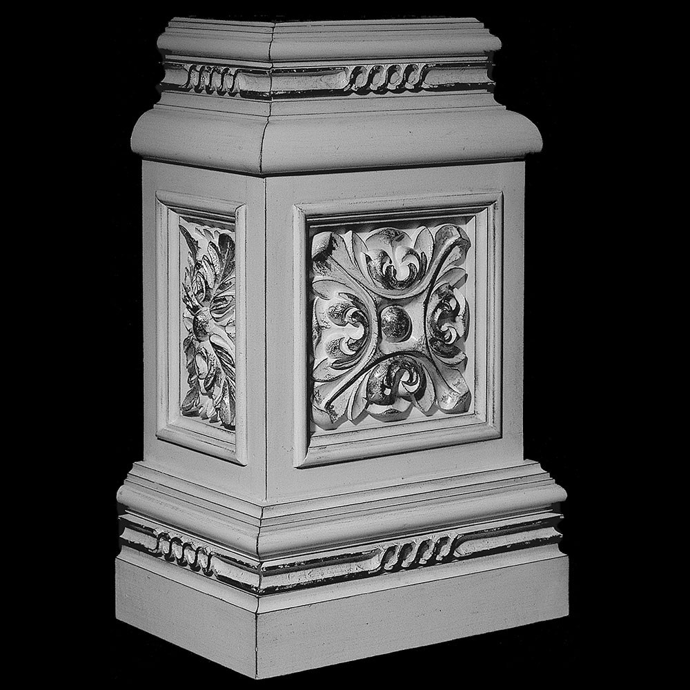 BASE-117R Series Profile Resin Columns Base With Acanthus Leaf Rosette