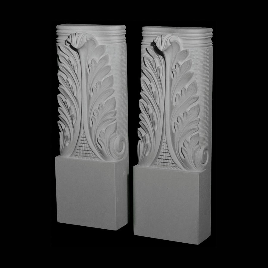 BASE-118 Series Acanthus Leaf Resin Columns Base